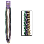Purple Green and Gold Party Beads