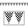 Checkered Outdoor Pennant Banner