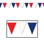 RED  WHITE  AND BLUE PENNANT BANNER