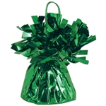 GREEN MYLAR BALLOON WEIGHT