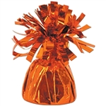 ORANGE MYLAR BALLOON WEIGHT