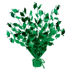 Graduation Cap Green Gleam N Burst Centerpiece