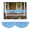 LIGHT BLUE BABY SHOWER FABRIC BUNTING