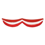 Red and White Fabric Bunting