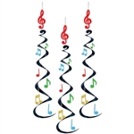 Musical Notes Hanging Whirls
