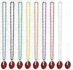 FOOTBALL BEADS - RED
