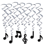 Musical Notes Hanging Whirls Decorations
