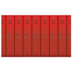 School Lockers Backdrop Decoration