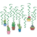 Cactus Hanging Whirls Decorations