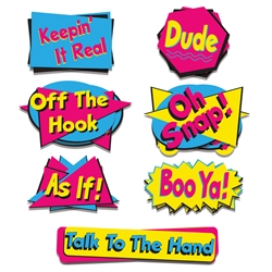 90's Phrase Packaged Cutouts