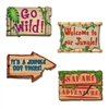 Jungle Sign Cutouts 18 Inches to 20 Inches