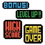 8-Bit Action Signs Cutouts
