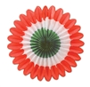 Red, White, and Green Flower Paper Decoration