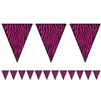 Pink Zebra Banner Decoration