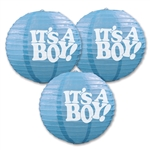 """It's A Boy"" Paper Lanterns"