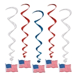 American Flag Whirls Decorations