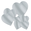 Heart Silver Cutouts Assorted Pack