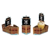 PIRATE SHIP FAVOR BOXES 3/PK