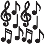 MUSICAL NOTES SILHOUETTES - MINI