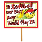 Fastpitch Softball Yard Sign