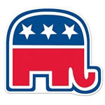 Republican Party Elephant Cutout - 10 1/2""