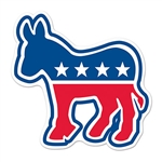 Democratic Party Donkey Cutout - 10 1/2""