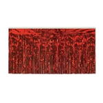 Red Metallic Foil Table Skirting