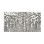 Silver Metallic Foil Table Skirting