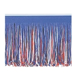 RED  WHITE  AND BLUE ART-TISSUE FRINGE DRAPE