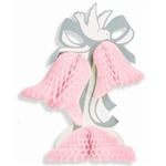 PINK HONEYCOMB TISSUE CENTERPIECE