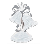 WHITE HONEYCOMB TISSUE CENTERPIECE