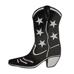 Cowboy Boot Black Foil Cutout