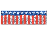 METALLIC STARS AND STRIPES BANNER