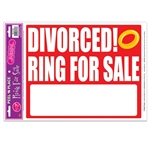 Divorced!  Ring For Sale Peel 'n Place Cling
