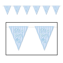 """It's A Boy"" Pennant Banner"