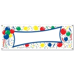 Balloons Blank Sign Banner