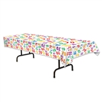 70 Multicolored Plastic Table Cover