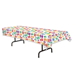 80 Multi Color Plastic Table Cover