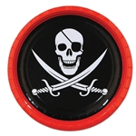 Pirate 9 Inch Party Plates