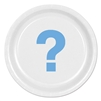 Blue Question Mark Round Plates