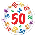 50th 9 inch Dinner Plates