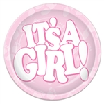 It's A Girl! Plates (9 in)
