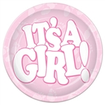 It's A Girl! Plates (7 in)