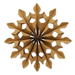 Paper Fans Decorations 2 Pack - Kraft Brown