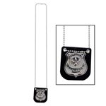 Metal Police Badge on Chain Costume Accessory