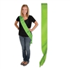 Lime Green Satin Sash