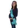 "Teal ""Mom To Be"" Sash"