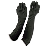 BLACK EVENING GLOVES