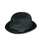 BLACK VELVET FELT DERBY HAT