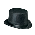 BLACK VELVET FELT TOP HAT
